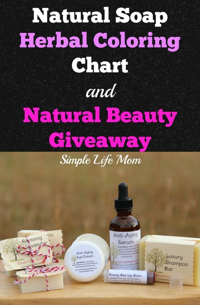 Color Soap Naturally - With an Herbal Coloring Chart & Giveaway ...