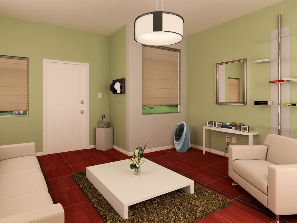 combina pisos oscuros con paredes claras para dar la