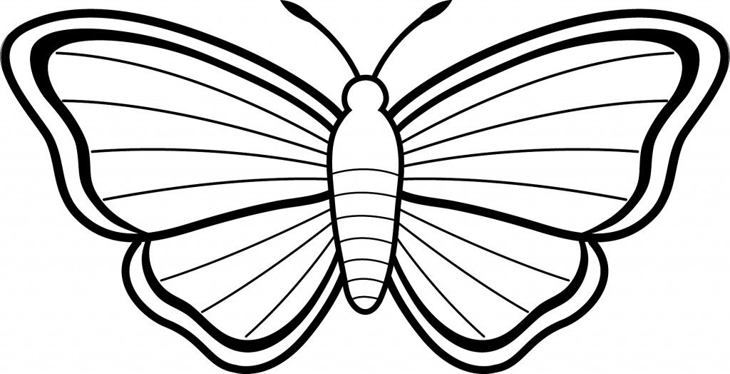 Simple Butterfly Coloring Pages Butterfly coloring page