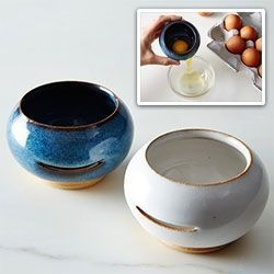 Egg Separator - a cute little handmade pot by Circles of Stone Ceramics  pottery ideas Egg Separator - a cute little handmade pot by Circles of Stone Ceramics - Mach Es Selbst DIY slabpottery #potterytools #thrownpottery #ceramicpottery #potterycourses #potterystore #ceramicsprojects #potterydesigns #potterystudio