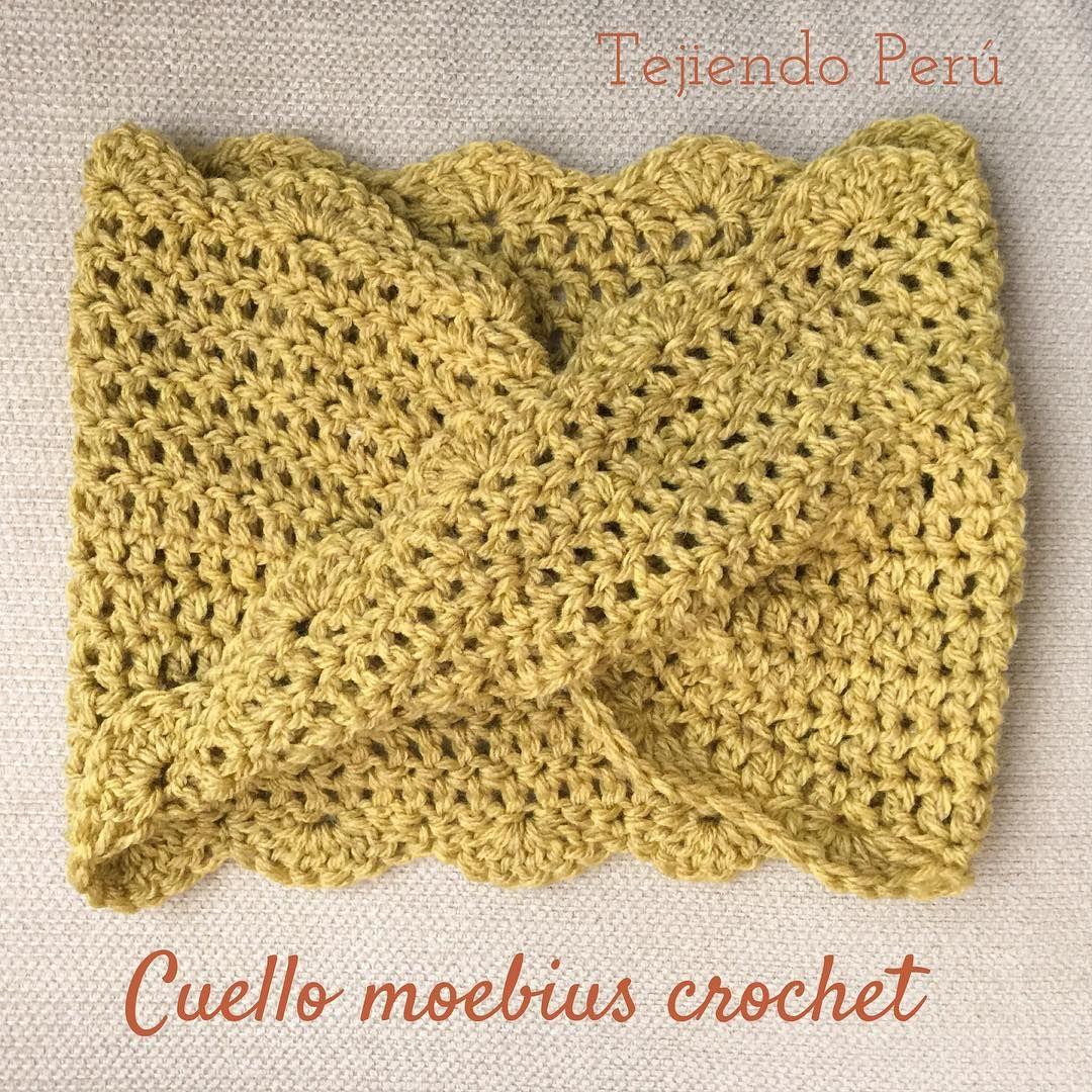 Crochet moebius o infinito: Así nos quedó el cuello o bufanda corta ...