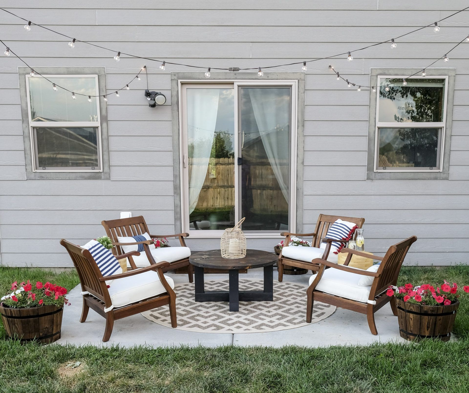 Patio Makeover On A Budget How It Looks After Is Amazing In