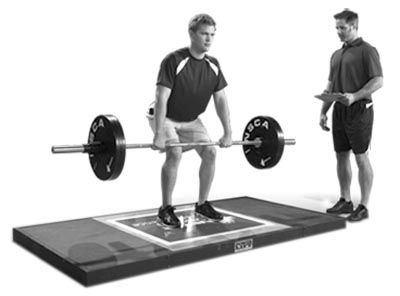 Strength & conditioning coach assisting athlete | Exercise