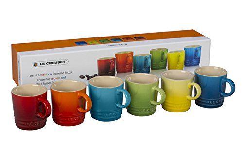 Le Creuset Stoneware Espresso Mugs Rainbow Assortment Set Of 6 Le Creuset Http Www Amazon Com Dp B00mw6fx6q Ref Cm Mugs Stoneware Mugs Le Creuset Stoneware