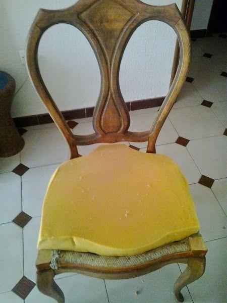 El paso a paso del tapizado de mis sillas de comedor...