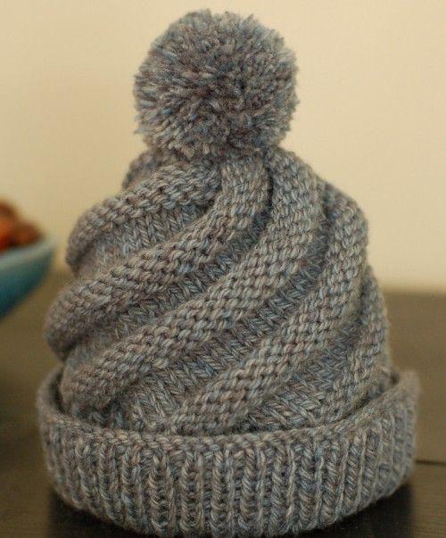 Hand Knitting Tutorials Swirled Ski Cap Free Pattern Crafts
