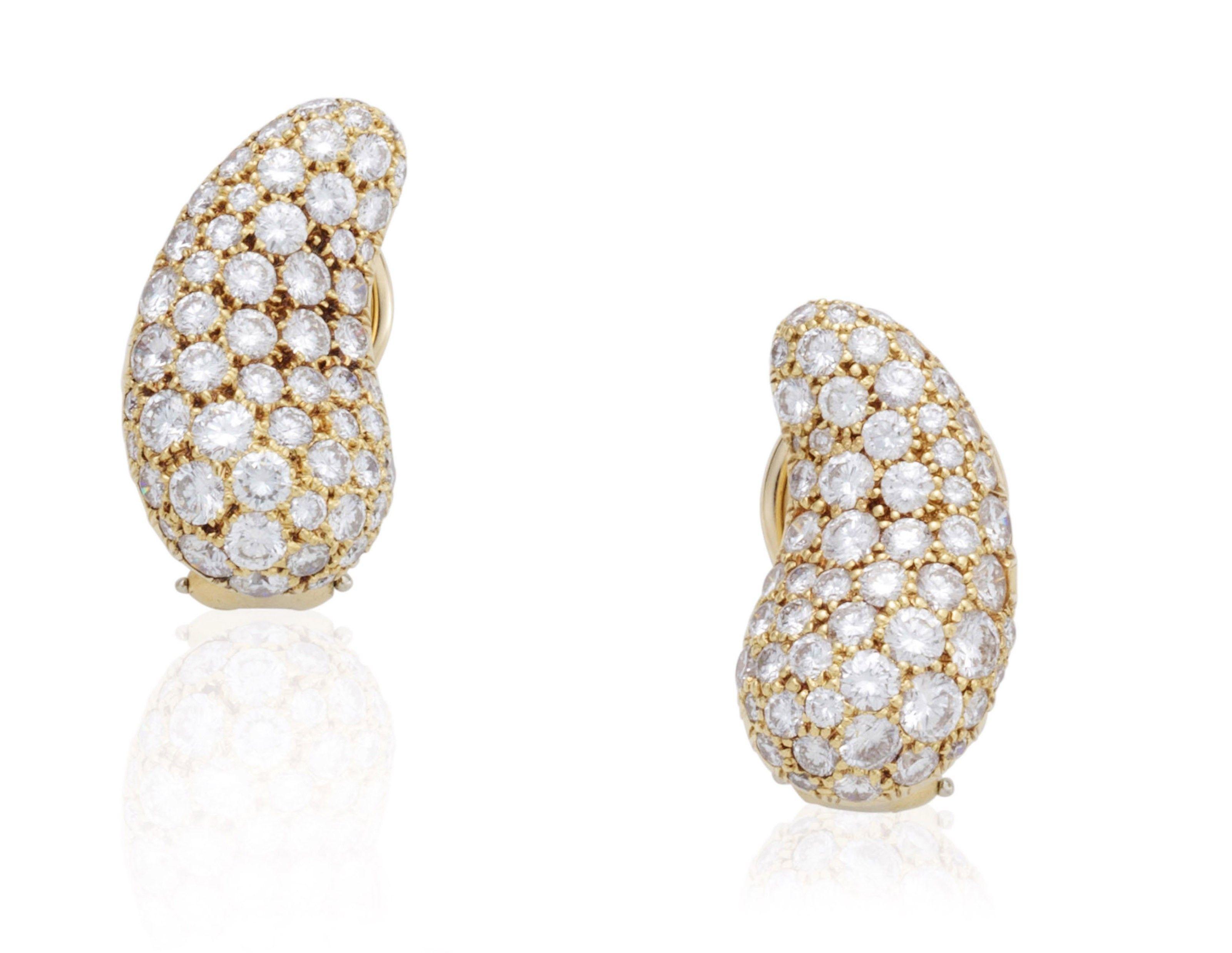 Tiffany & co elsa peretti teardrop diamond earrings