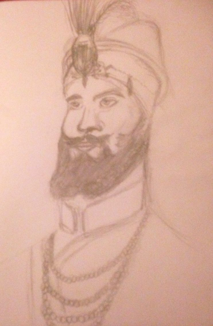 My sketch of guru gobind singh jee