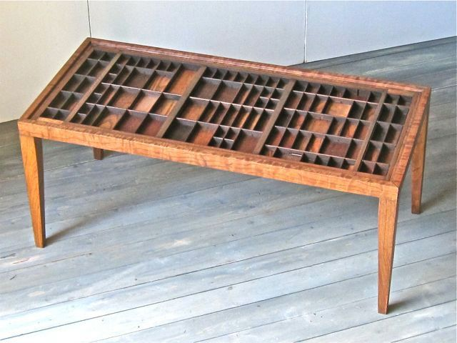 Coffee Table From My Printers Type Drawers  Would Be Great To Put Glass On