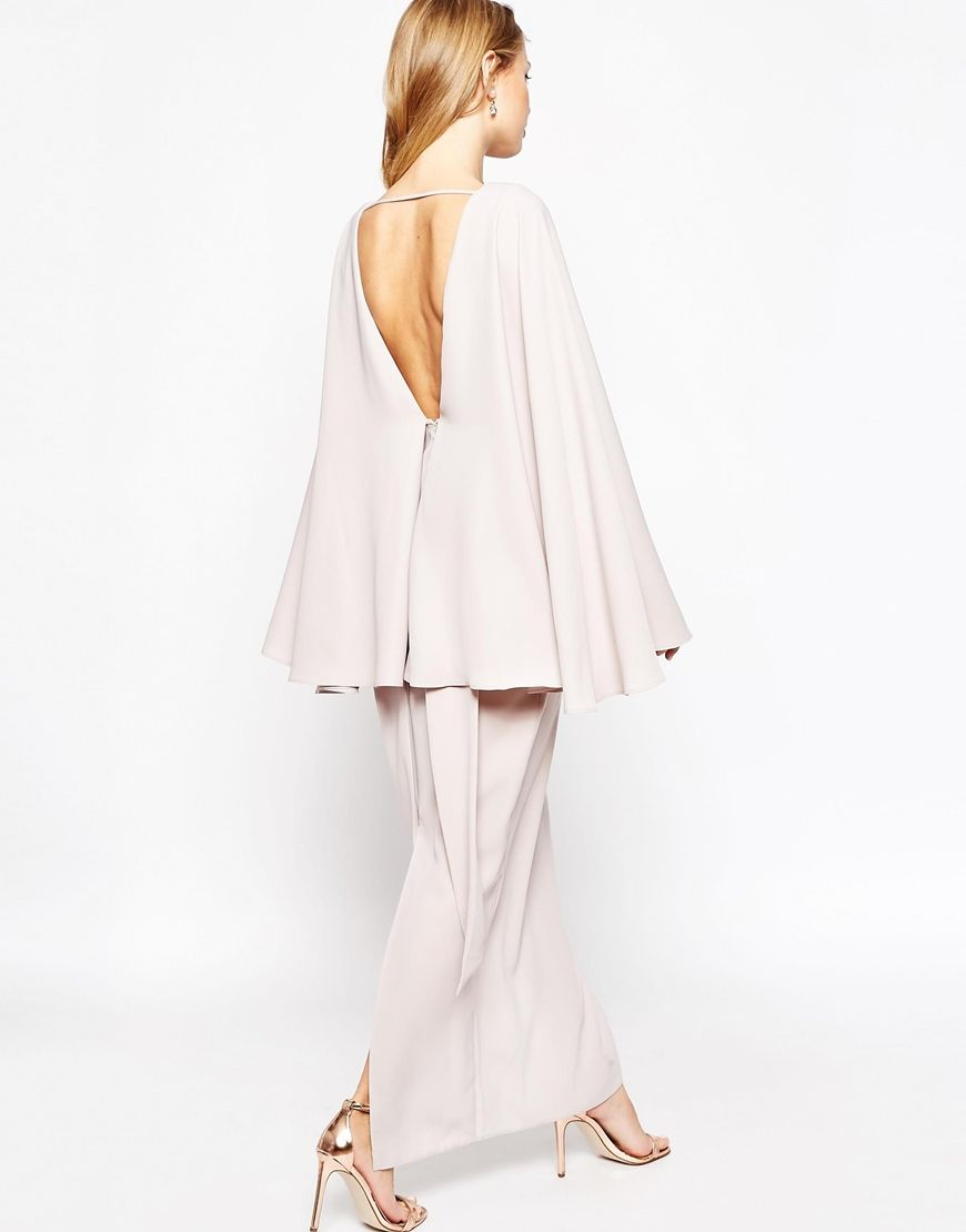 ASOS Extreme Cape Knot Front Maxi Dress