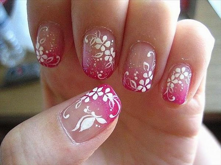 Fascinating Easy Nail Art Flowers: use nail stickers - Fascinating Easy Nail Art Flowers: Use Nail Stickers Nails