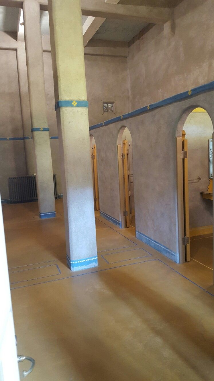 Dressing rooms for indoor pool