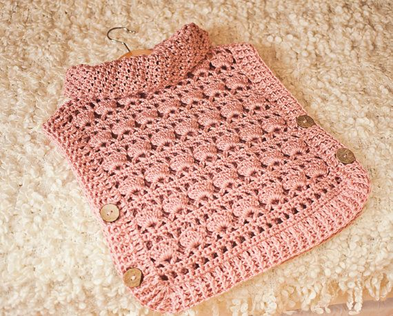 Crochet PATTERN - Rose Poncho - Pullover (sizes from 1-2y up to ...