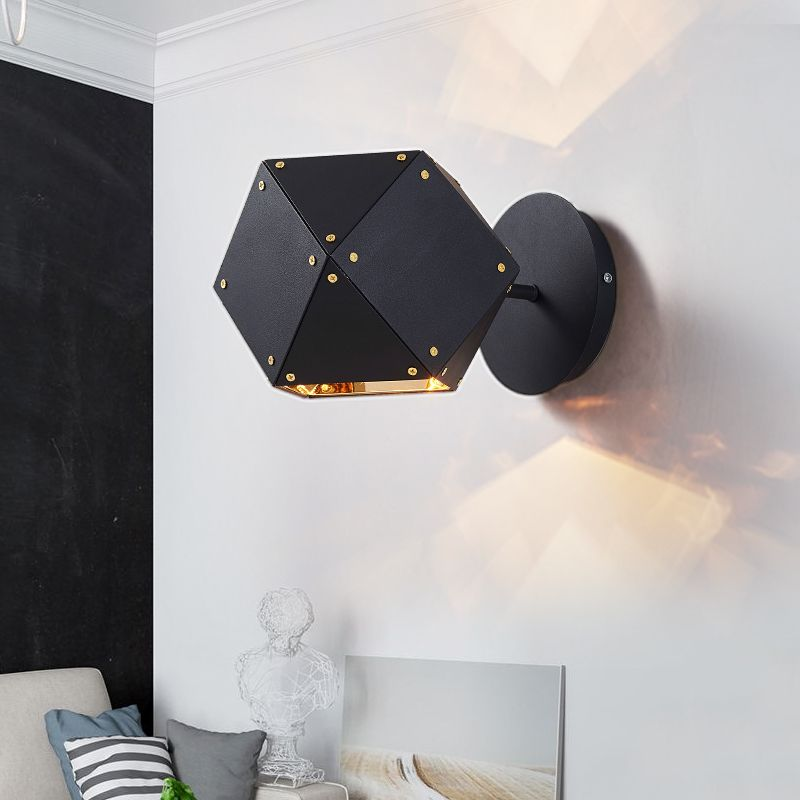 Find More Wall Lamps Information About Modern Wall Lamp Dna Wall Sconces Bedroom Bedside Black Metal We Modern Wall Lamp Black Wall Lights Wall Sconces Bedroom