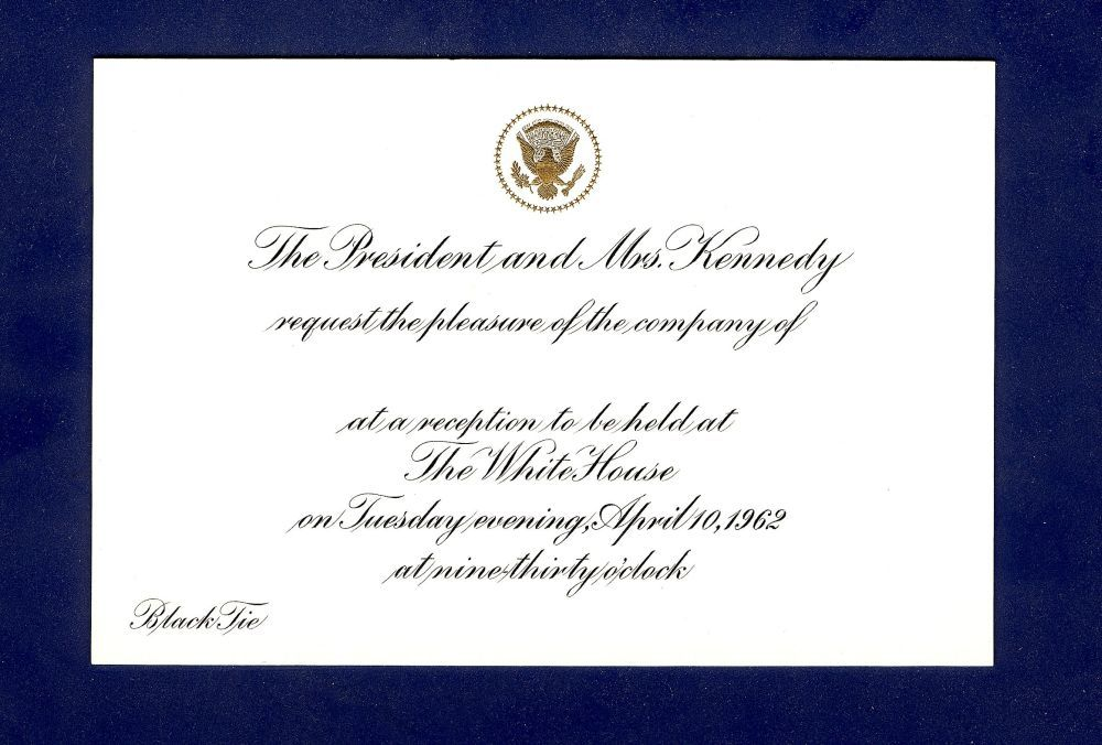 Kennedy White House Invitation Wedding Fonts