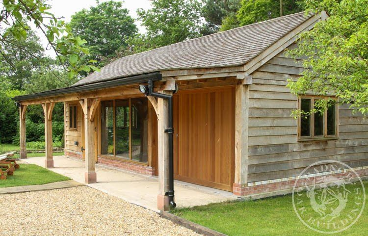 Radnor oak home office oak framed office annex oak for Oak framed garden room