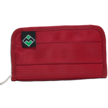Large Wallet in Cranberry by Maggie Bags #MaggieBags #handbags #purses #fashion #ecofriendly #seatbelthandbags #wallets