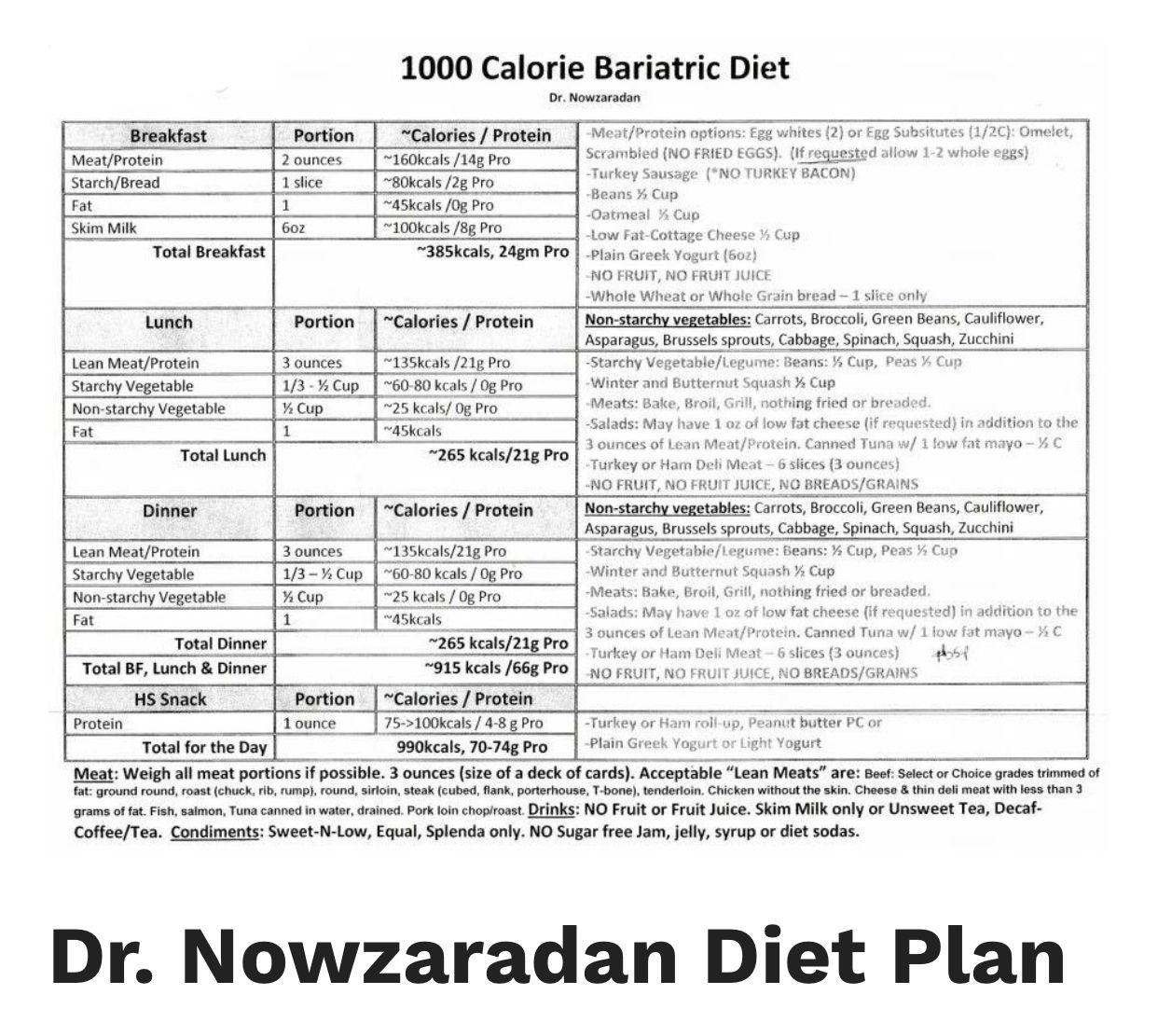 Dr Now 1000 Dr Nowzaradan Diet Bariatric Diet Keto Diet Guide