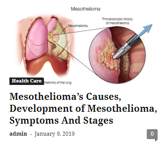 Mesothelioma could be a rare and aggressive cancer  it's