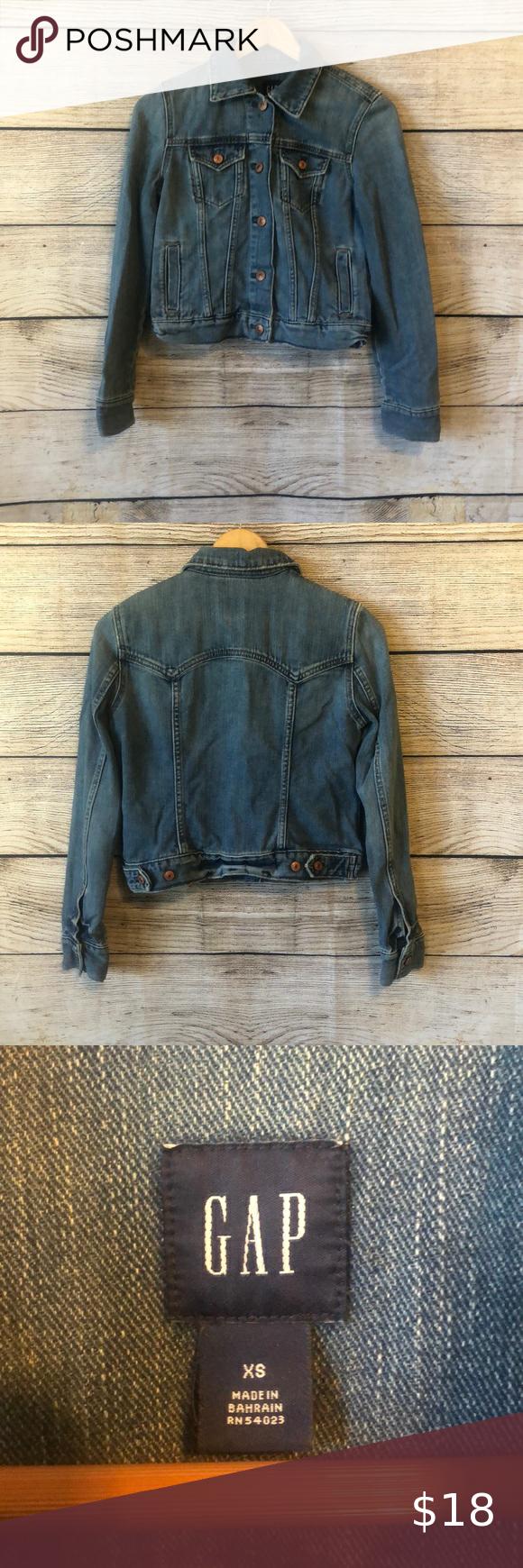 Gap Jean Jacket Coats Jackets Women Trendy Denim Long Denim Jacket [ 1740 x 580 Pixel ]