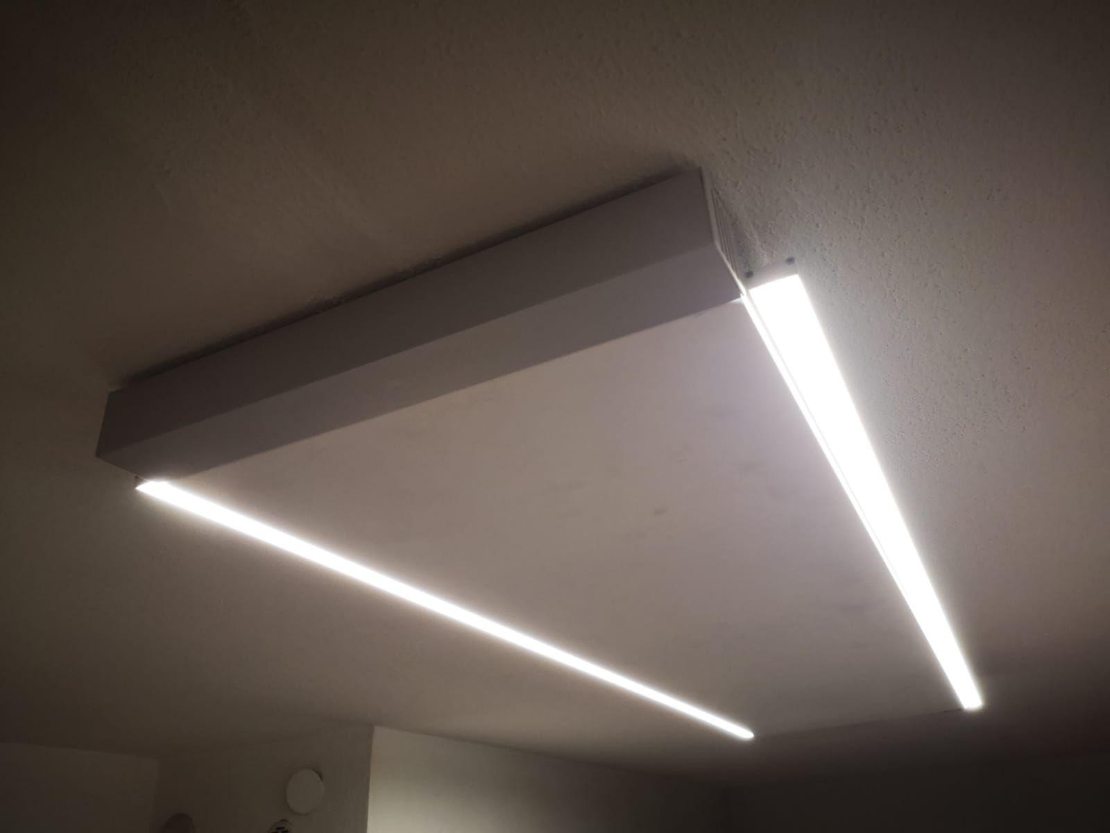 Redwell Infrarot Deckenheizung Mit Led Beleuchtung Spiegelheizung Infrarotheizung Beleuchtung