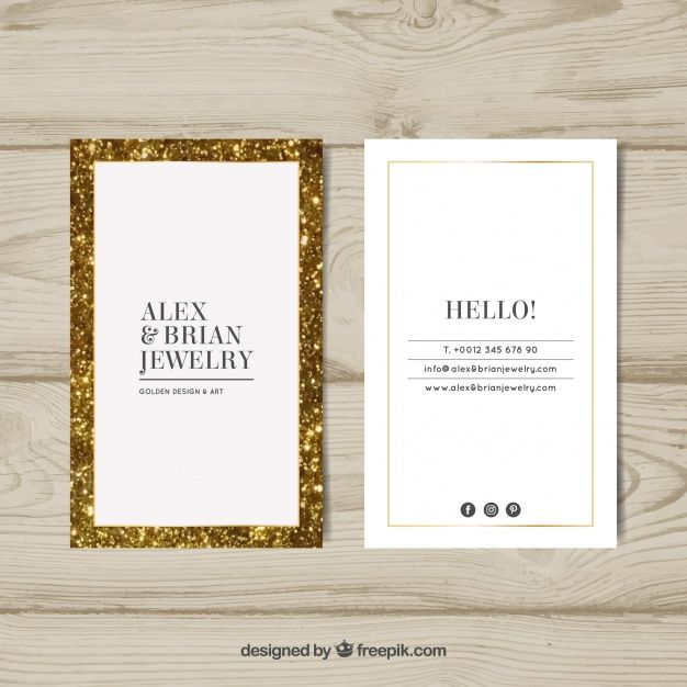 Luxury business card with golden frame free vector my work luxury business card with golden frame free vector reheart Gallery