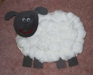 Como hacer una oveja de papel cartulina y algodon oveja - Como hacer una oveja ...