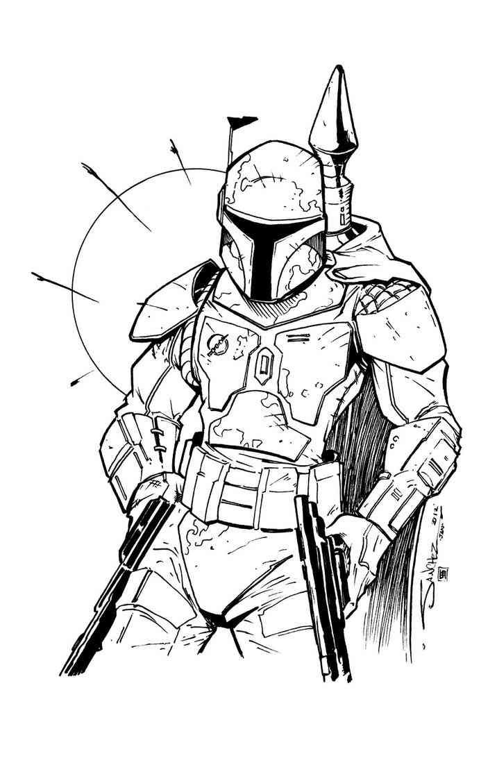 boba fett (12)  star wars drawings boba fett boba fett art