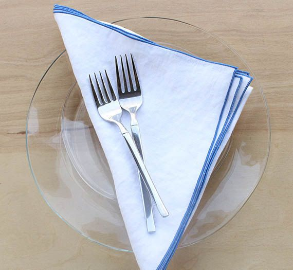 Blue And White Linen Napkins White Cloth Napkins Wedding Napkins Blue And White Wedding Wedding White Linen Napkins White Cloth Napkin Linen Dinner Napkins