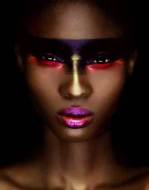 African beauty. Fierce, sexy and artistic Makeup. Creative Kelowna Makeup Artist Inspiration.