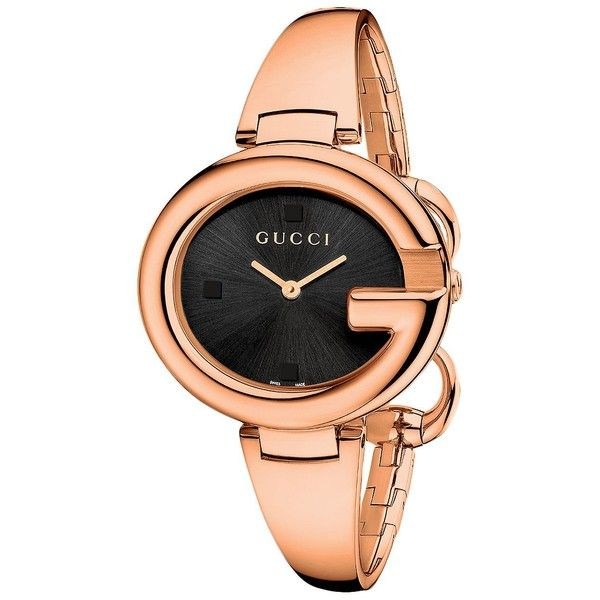 b1f90b9c6ab203 Gucci Ladies  Guccissima Pink Gold-Tone Watch 36mm ( 920) ❤ liked on  Polyvore featuring jewelry