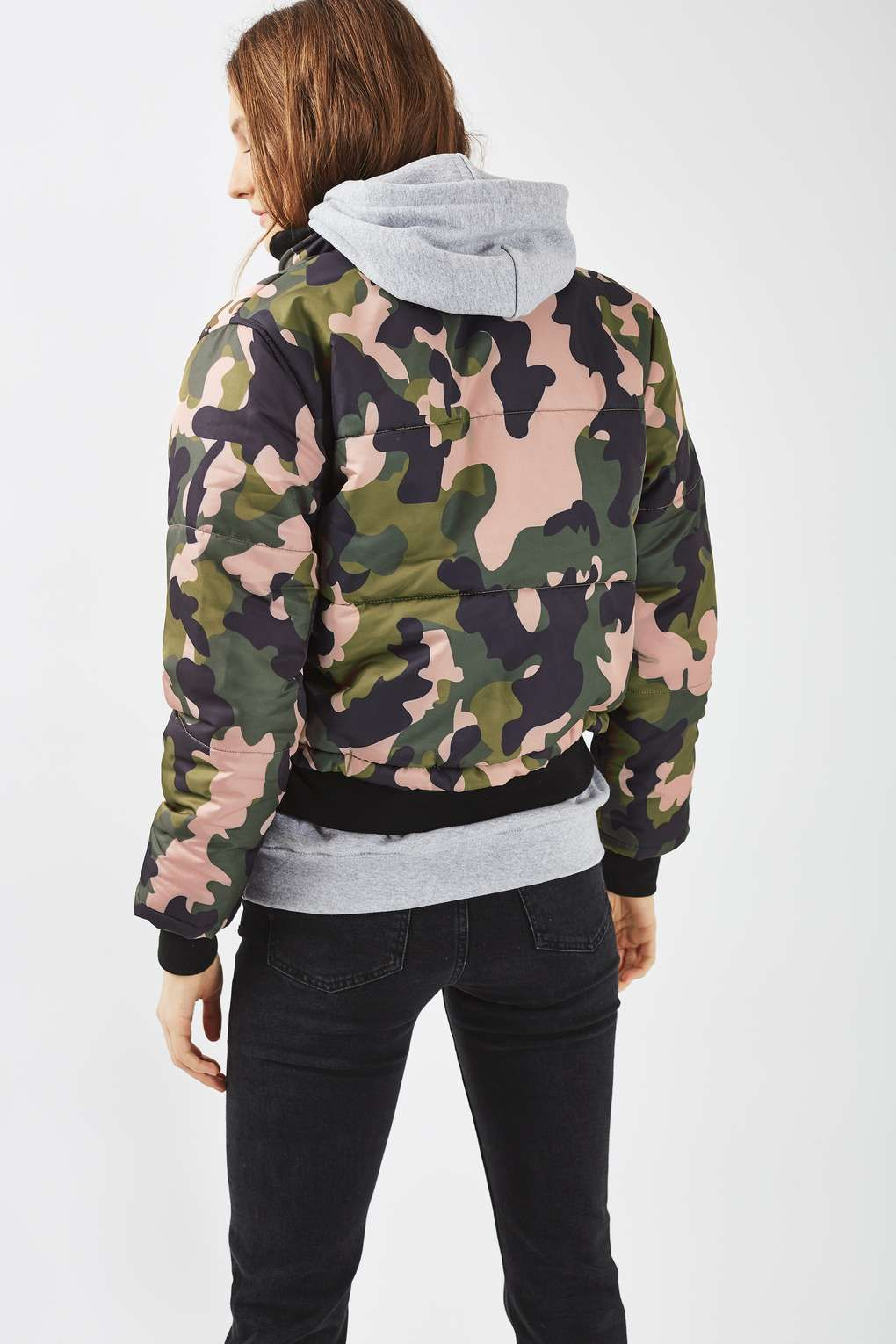 Pink Camo Puffer Jacket - Jackets & Coats - Clothing | Pink camo ...