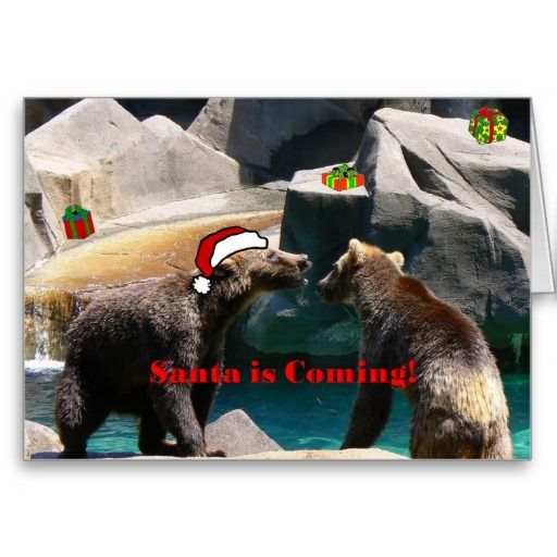Santa is coming cards