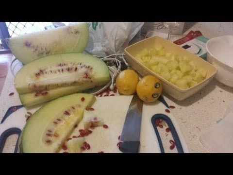 Making Melon and Lemon Jam