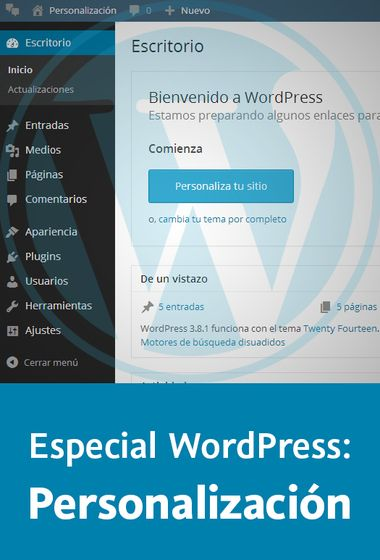 Especial WordPress: Personalización de temas | Wordpress