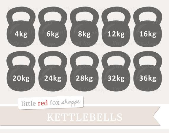 Kettlebell Clipart Gym Equipment Clip Art Health Exercise Fitness Weight Work Out Sports Cute Digital