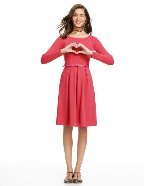 Lindsey Ponte Dress WH718 Day Dresses at Boden