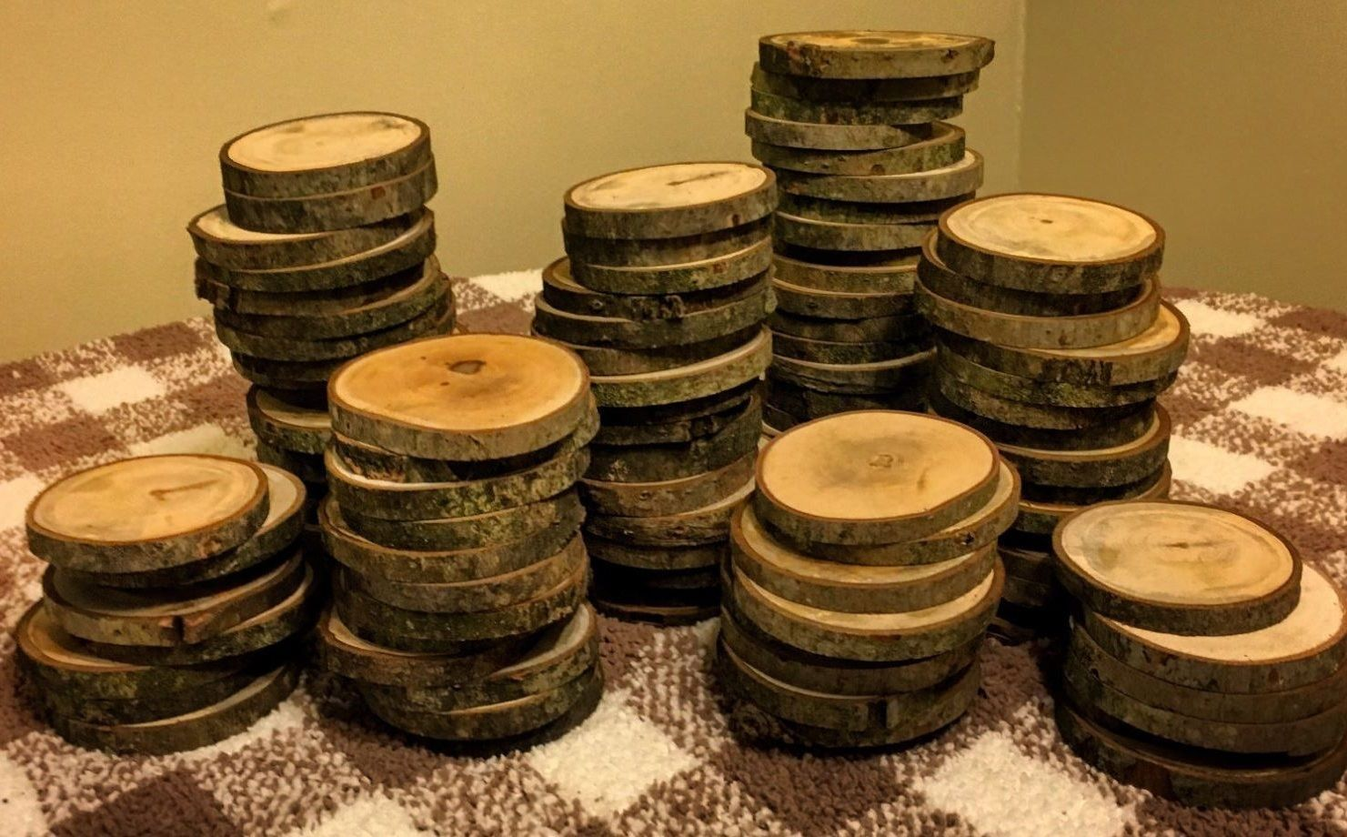 100 Wooden Wood Log Slices Discs Round Decorative Rustic Wedding Decorations