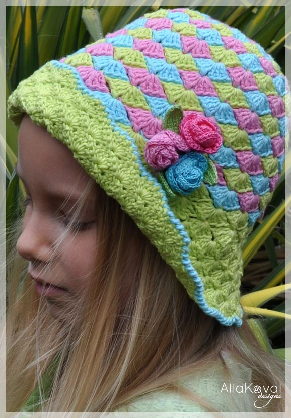 This Hat Is So Pretty Crochet Rose Buds Hat Free Pattern Free