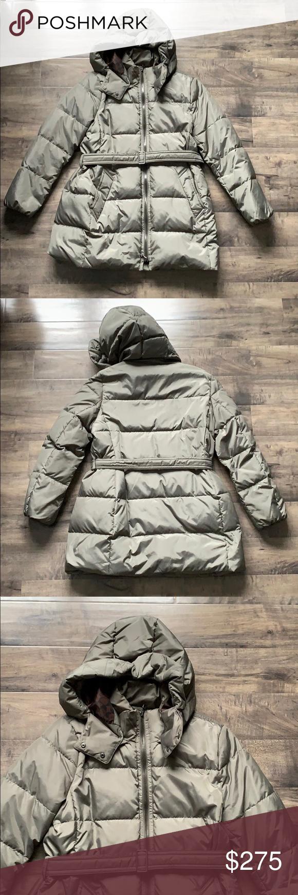 Coach Green Belted Puffer Winter Jacket Xl Winter Jackets Jackets Coach [ 1740 x 580 Pixel ]