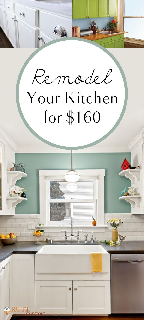 Remodel Your Kitchen for $160 | Kitchens and DIY furniture