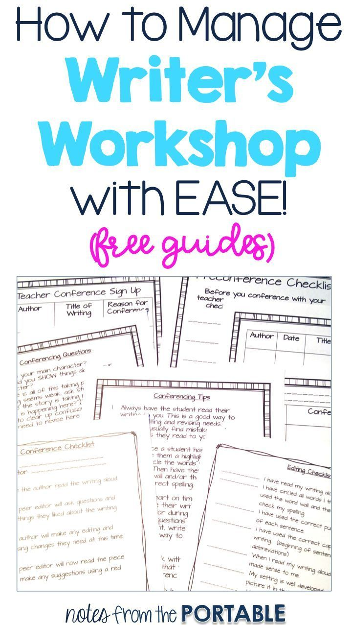My Writer's Workshop is up and running so easily with these tips and free conferencing guides. The students know what is expected and I can easily differentiate lessons. Writing conferences have never been easier!
