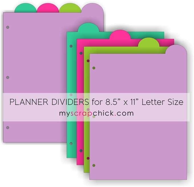 DIY Planner Dividers Top Tabs 8.5 x 11 Letter Size: click ...