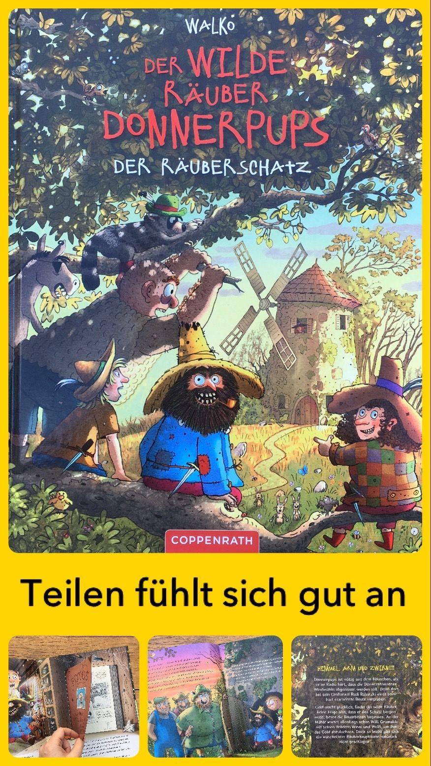 Bilderbuchwoche Tag 3 Der Wilde Rauber Donnerpups Der Rauberschatz Bilderbuch Bucher Fur Kinder Kinderbucher