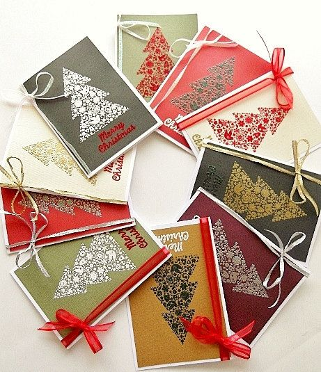 Christmas Card Set of 10, Holiday Pack 20, Beautiful Christmas