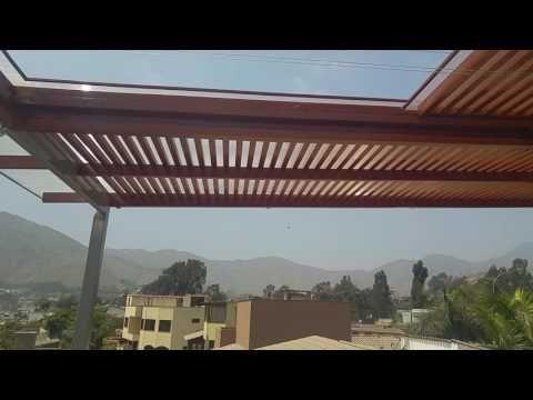 TECHO CORREDIZO SOL Y SOMBRA - YouTube | TECHOS DE POLICARBONATO CON ...