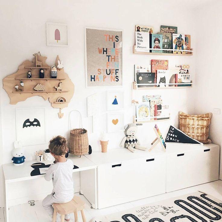 Eine volle Wand und immer noch ordentlich - Babyzimmerdekoration