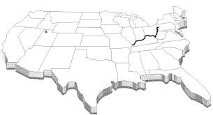 Ohio River US Map Geography | Ohio map, Us map, Ohio river