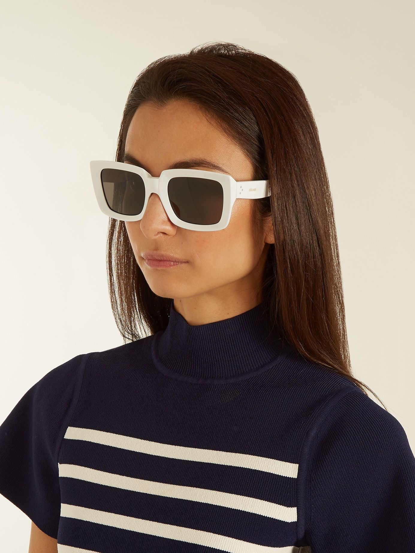 7cda755f400 Click here to buy Céline Eyewear Kate rectangle-frame acetate sunglasses at  MATCHESFASHION.COM
