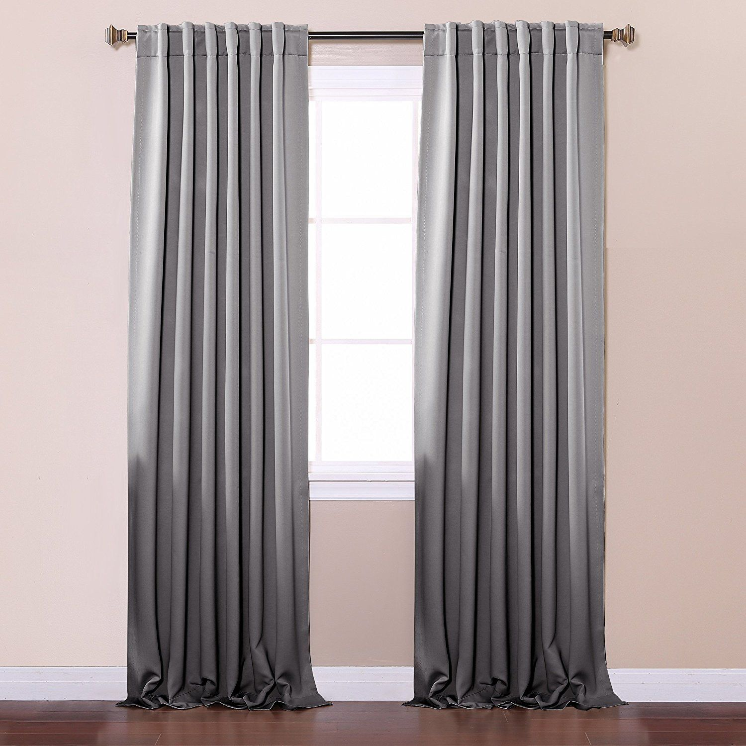 Thermal curtains grey - Amazon Com Best Home Fashion Thermal Insulated Blackout Curtains Back Tab Rod